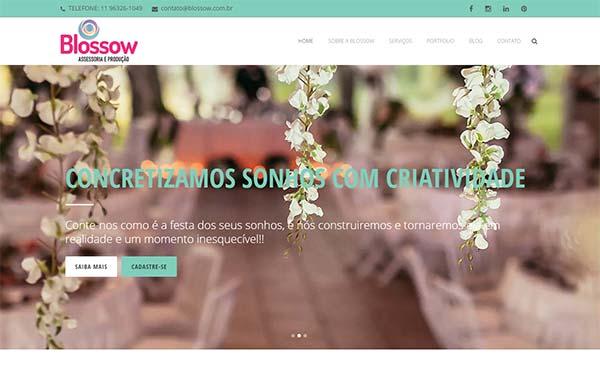 Site criado para a agência de eventos Blossow