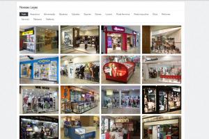 Página das lojas do Santana Shopping