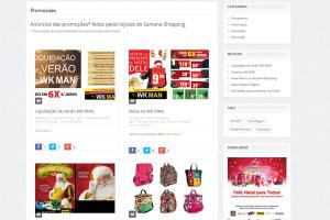 Página de Promoções do Santana Shopping