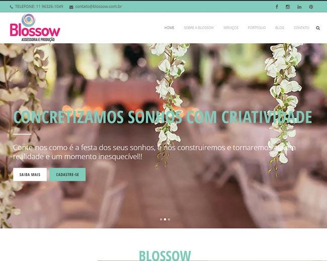 Site da Blossow Eventos