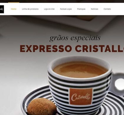 Site e E-commerce da Cristallo