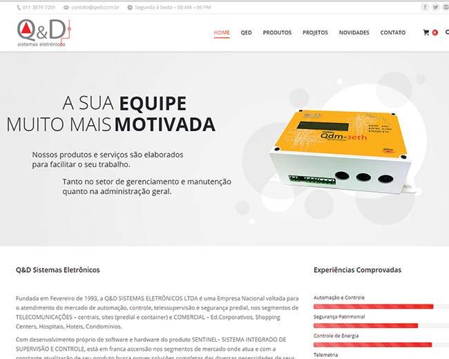 Site da QeD Sistemas Eletrônicos