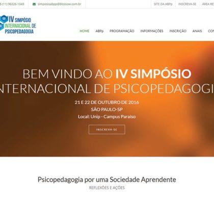 Site para o IV Simpósio de Psicopedagogia