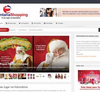 Site do Santana Shopping