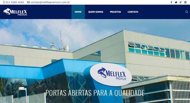 Novo site para Melflex Premium