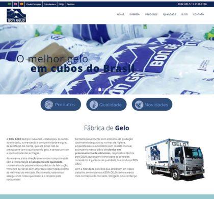 Desenvolvimento de site multilíngue para a Bon Gelo