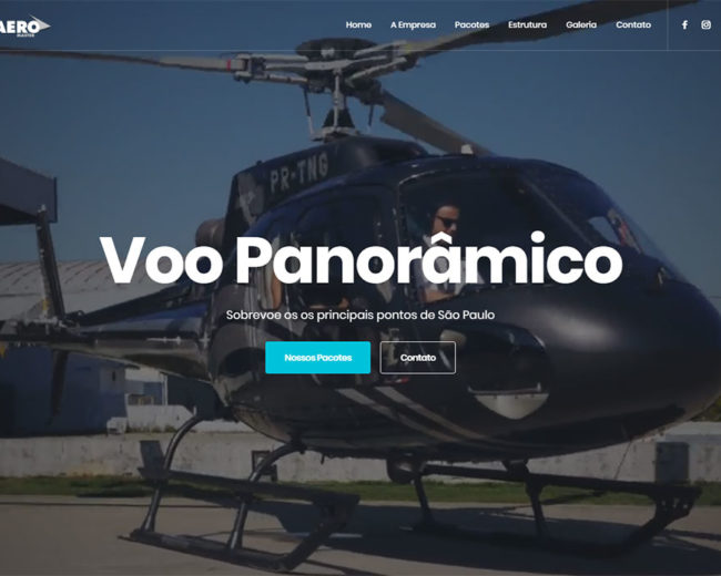 Criação de Site para Aero Master voos panorâmicos