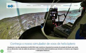 Inclusão do simulador de voo no site da Goair