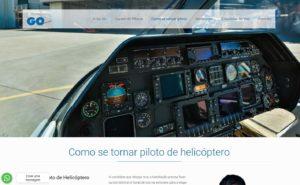 Desenvolvimento do site da escola de aviação civil