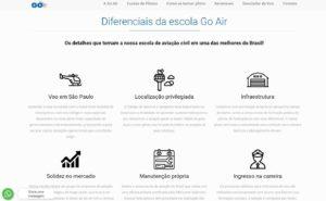 Diferenciais no site da Go Air