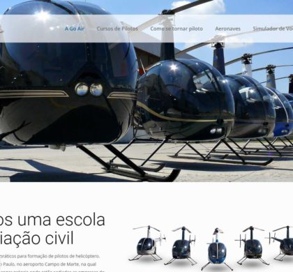 Criação de Site e SEO para Empresa de Aviação Civil – Go Air