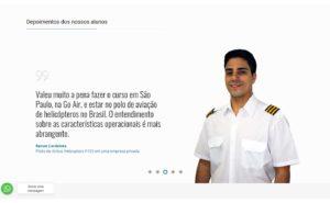 Depoimentos no site da GOAIR - criação Aoun Digital