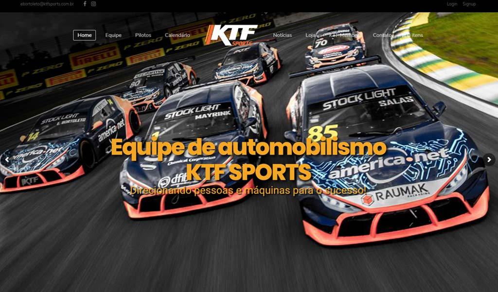 Desenvolvimento de site para a Equipe de Automobilismo KTF Sports