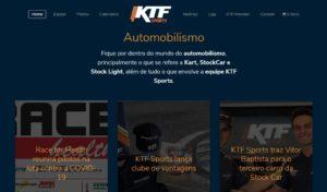 Blog de notícias desenvolvido no site de automobilismo