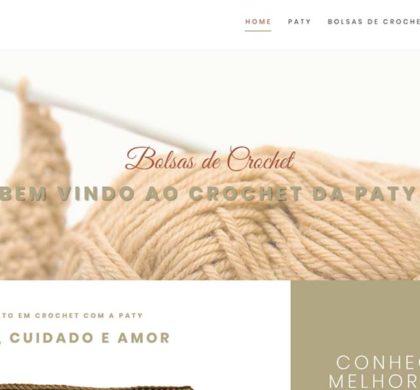 Site desenvolvido para fabricante de bolsas Crochet com a Paty