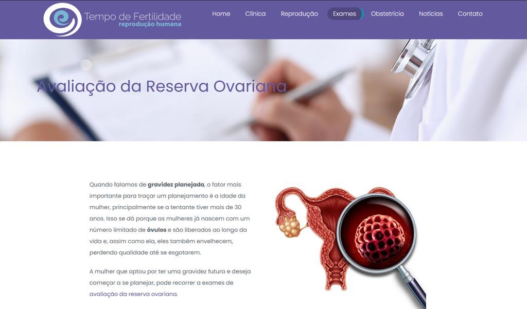 Página de serviço médico