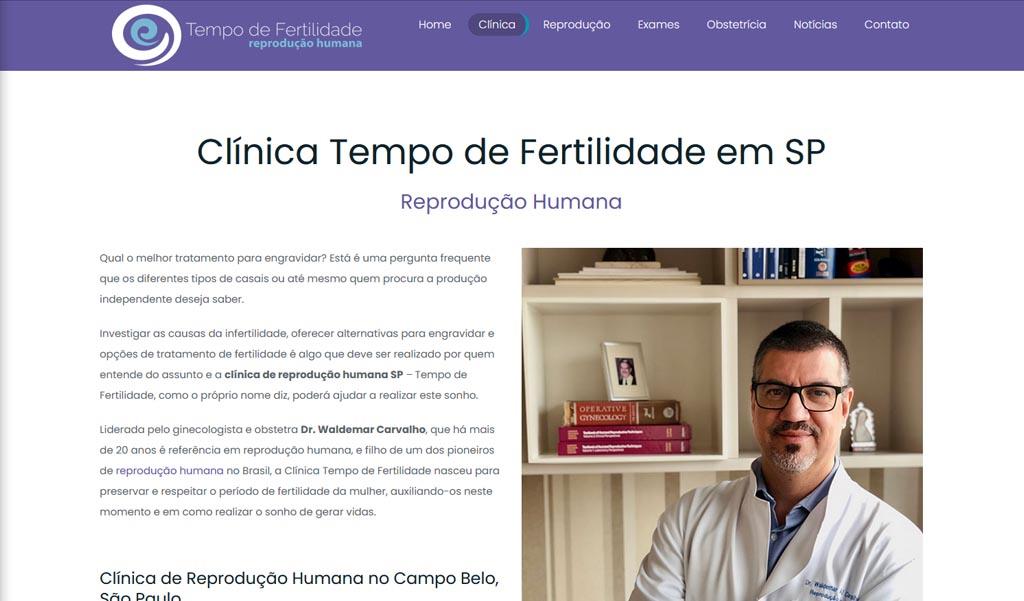 Clínica tempo de fertilidade
