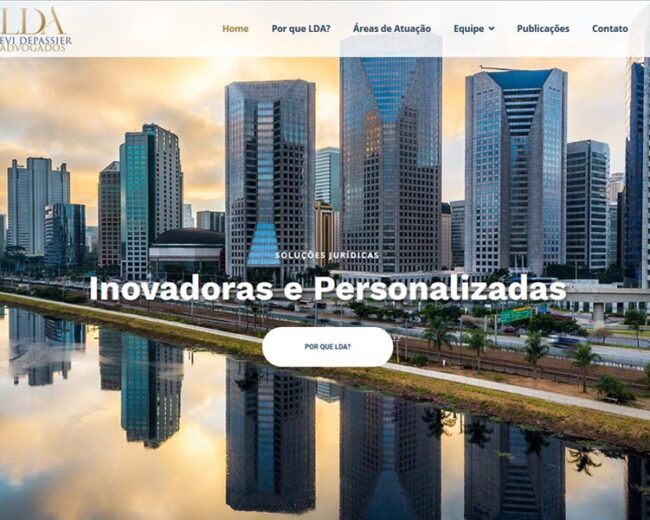 Criação de Site para a Consultoria Jurídica LDA Advogados